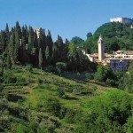 ASOLO veduta del centro storico e della Rocca
