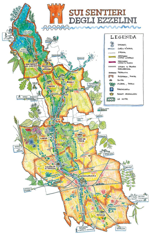 Mappa Sentieri degli Ezzelini